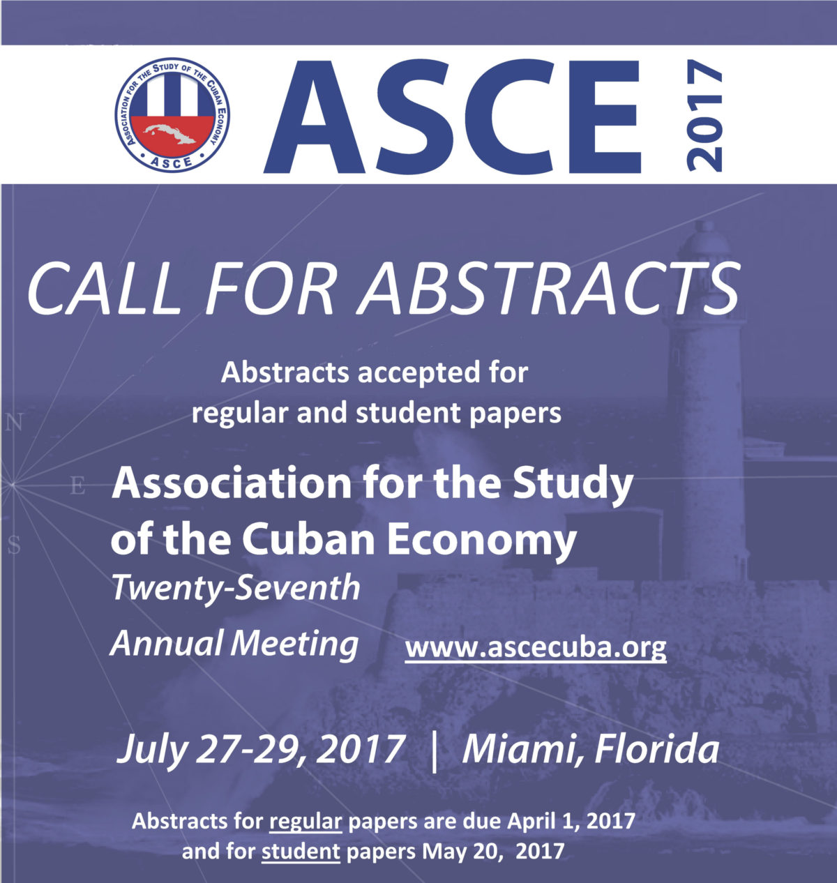 ASCE 2017 Call for abstracts